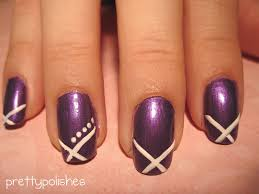 nail designs purple and white white black purple glitter finger
