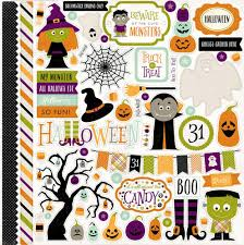 halloween elements collections echo park paper co halloween