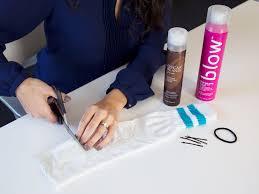 sock bun hair tutorial how to do a sock bun in 5 easy steps