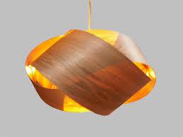 Wood Veneer Pendant Light Knot Wood Veneer Pendant L Butternut