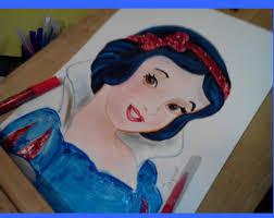 snow white princess drawing coloring kids