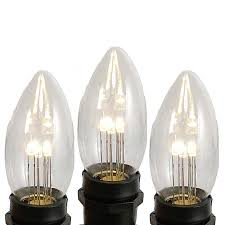 warm white smooth glass c9 led bulbs novelty lights inc