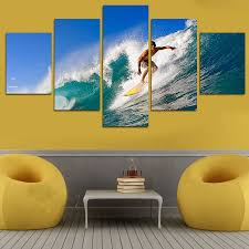 Wall Art Paintings For Living Room Online Get Cheap Surf Wall Art Aliexpress Com Alibaba Group
