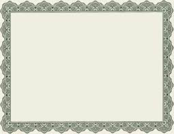 Free Blank Gift Certificate Templates 9 Best Images Of Free Clip Art Certificates Templates Award