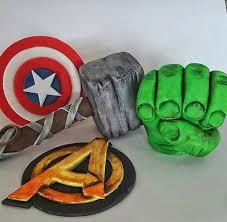 superhero cake toppers hulk fist c a sheild avengers logo