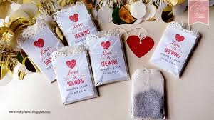 tea bag favors wedding card malaysia crafty farms handmade is brewing