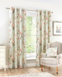 Floral Curtains Curtains Pole Accessories Vintage Floral Eyelet Curtains Teal