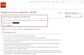 wells fargo credit card application denial letter