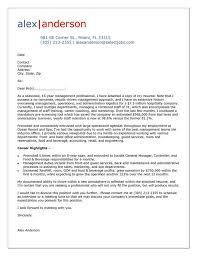 Sample Letter Of Resume by Cover Letter Example For Hospitality Manager Cover Letter Tips