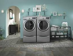 Laundry Room Decorating Accessories Decorating Modern Laundry Room Decor With Aqua Blue Wall And