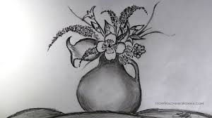 Face Vase Drawing How To Draw A Flower Vase Pencil Drawing Techtrixinfo Com