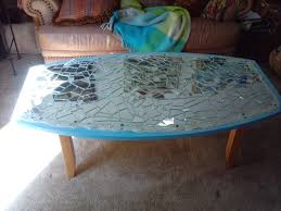 Patio Table Glass Shattered mirrored mosaic coffee table mosaico espejo mesa de centro