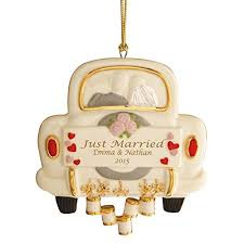 just married wedding ornament by lenox home kitchen
