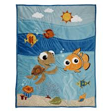 Finding Nemo Crib Bedding Fish Are Friends At Bedtime This 4 Bedding Set Brings