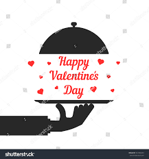 black hand serving happy valentine day stock vector 547486459