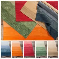 Cotton Flat Weave Rug Artist U0027s Loom Flatweave Contemporary Stripe Pattern Cotton Rug 5