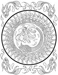 mermaid in celtic knot coloring page by lorrainekelly on