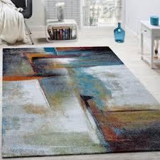 tappeto design moderno tappeto di design a quadri trendy screziato appariscente in beige