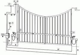 auto wiring diagrams amazing of automated electric swing gate