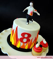 bowling cake toppers bowling topper cake cupcakes childrens cakes