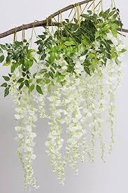 Artificial Flower Decoration For Home Amazon Com Artificial Flowers 34in Artificial Fake Wisteria Vine