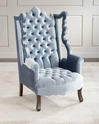 Velvet Wingback Chair Wing Chair Neiman Marcus
