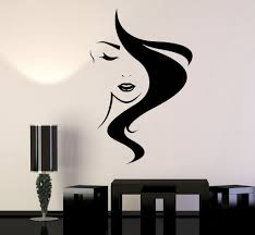 hair vinyl wall decal salon studio hairdresser