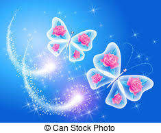 background with frame roses and butterfly background with