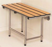 Teak Folding Shower Bench Accessible Shower Seats Shower Chairs For Disabled And Handicapped