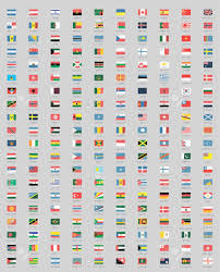 Flags Countries New Year Postcard Flags Countries Christmas 2017 Royalty Free