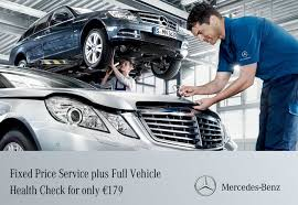 mercedes service offers fixed price service vehicle health check for only 179
