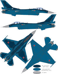 mitsubishi f 2a b two color camouflage color profile and paint guide