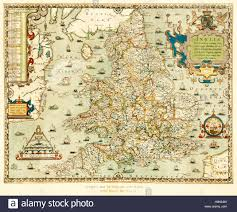 Map Of Wales And England by Christopher Saxton U0027s Map Of England And Wales 1579 Part Of