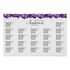 wedding reception seating chart alphabetical seating chart posters zazzle