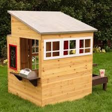 Wooden Backyard Playhouse Kidkraft Modern Outdoor Playhouse U0026 Reviews Wayfair