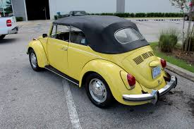 yellow volkswagen convertible 1971 volkswagon beetle convertible stock c529 for sale near