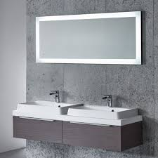 bathroom cabinets illuminated led bathroom mirrors wall vanity