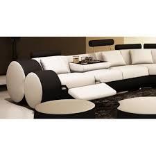 canapé panoramique canapé panoramique cuir blanc et noir roma achat vente canape