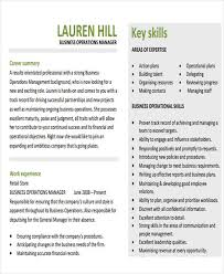 Operation Manager Resume 27 Business Resume Templates Download Free U0026 Premium Templates