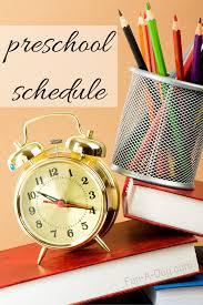 preschool schedule for a pre k classroom