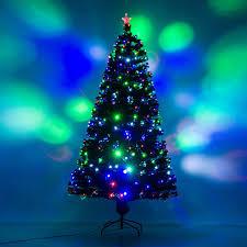 Tree Led Lights Homcom 7 Artificial Decoration Light Up Tree Green