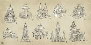 indian architecture sketches by spacelaika on deviantart
