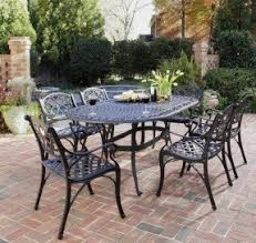 Black Metal Chairs Outdoor Granite Patio Furniture Sets Foter