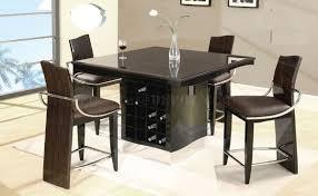 wenge zebrano high gloss finish modern bar table w wine rack