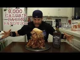 Challenge La Beast L A Beast Vs 9000 Calorie Bacon Sandwich Human Science