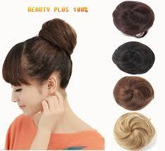clip on hair hot sale stylish pony women clip in on hair bun hairpiece
