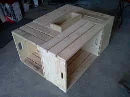 Table En Caisse En Bois Table Basse Pour Le Salon En Bois De Palettes Recycled Pallet