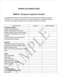 10 inspection checklist examples samples