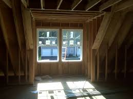 interior dormer window during loft conversion for the home