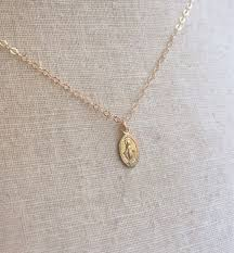 gold tiny necklace images Tiny gold miraculous medal virgin mary necklace miraculous jpg